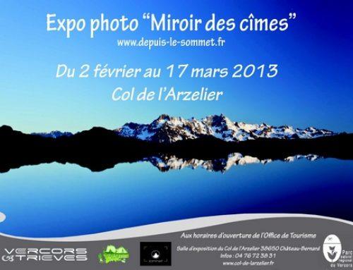 Exposition à l'Office du tourisme du Col de l'Arzelier (Isère)