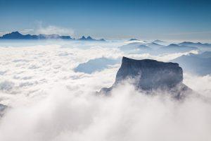 Mont Aiguille depuis le Grand Veymont