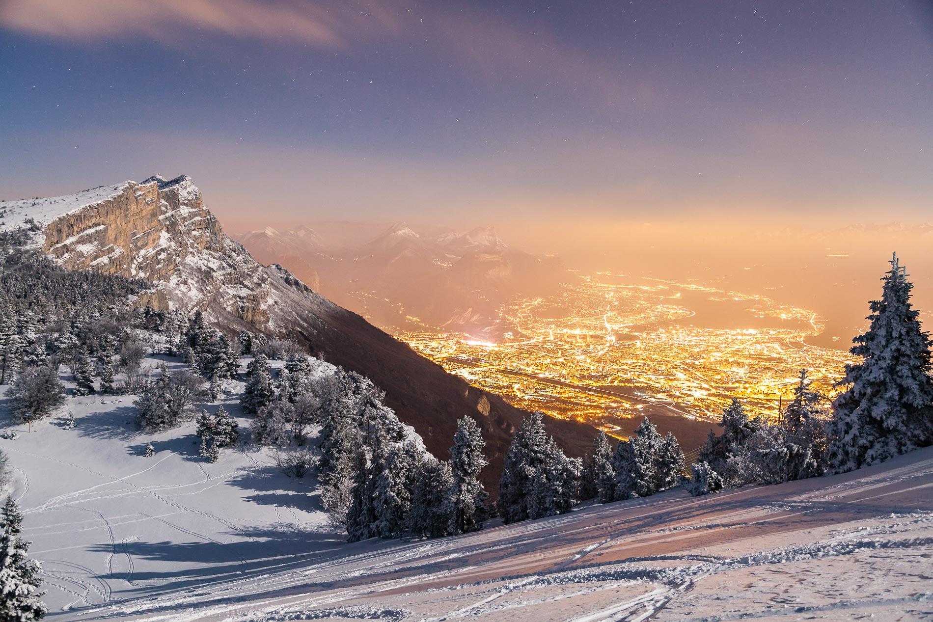 La métropole de Grenoble depuis le Vercors