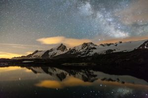 Voir Lactée au-dessus du massif de la Meije