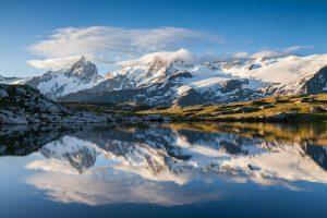 Massif de la Meije depuis le lac Noir (plateau d'Emparis)