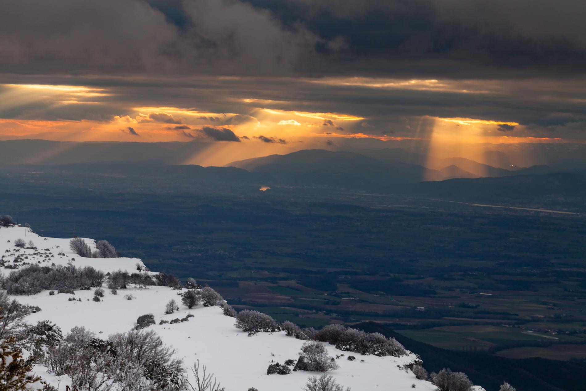 Moyenne vallée du Rhône depuis le Vercors