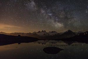 Voie Lactée au-dessus des Aiguilles d'Arves