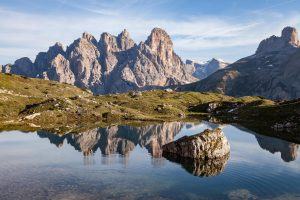 Au pied des Tre Cimes di Lavaredo (Dolomites)